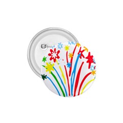 Fireworks Rainbow Flower 1 75  Buttons