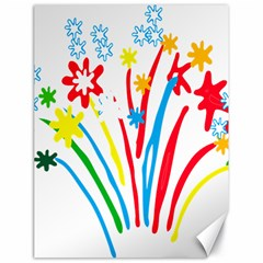 Fireworks Rainbow Flower Canvas 18  X 24   by Mariart