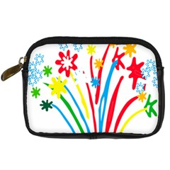 Fireworks Rainbow Flower Digital Camera Cases by Mariart