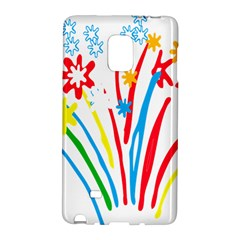 Fireworks Rainbow Flower Galaxy Note Edge by Mariart