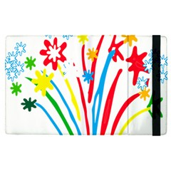 Fireworks Rainbow Flower Apple Ipad Pro 12 9   Flip Case by Mariart