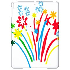 Fireworks Rainbow Flower Apple Ipad Pro 9 7   Hardshell Case by Mariart