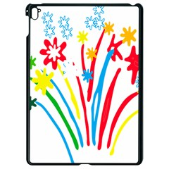 Fireworks Rainbow Flower Apple Ipad Pro 9 7   Black Seamless Case by Mariart