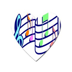 Music Note Tone Rainbow Blue Pink Greeen Sexy Heart Magnet by Mariart