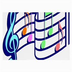 Music Note Tone Rainbow Blue Pink Greeen Sexy Large Glasses Cloth (2 Side) by Mariart