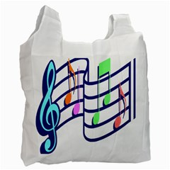 Music Note Tone Rainbow Blue Pink Greeen Sexy Recycle Bag (one Side) by Mariart