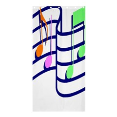 Music Note Tone Rainbow Blue Pink Greeen Sexy Shower Curtain 36  X 72  (stall)  by Mariart