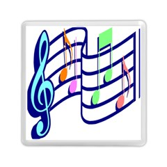 Music Note Tone Rainbow Blue Pink Greeen Sexy Memory Card Reader (square)  by Mariart