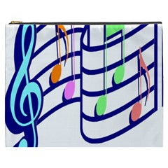 Music Note Tone Rainbow Blue Pink Greeen Sexy Cosmetic Bag (xxxl)  by Mariart