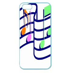 Music Note Tone Rainbow Blue Pink Greeen Sexy Apple Seamless Iphone 5 Case (color) by Mariart