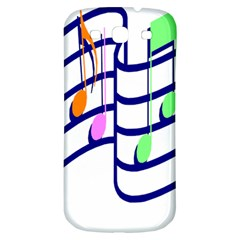 Music Note Tone Rainbow Blue Pink Greeen Sexy Samsung Galaxy S3 S Iii Classic Hardshell Back Case by Mariart