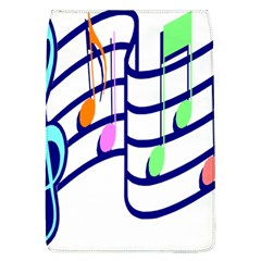 Music Note Tone Rainbow Blue Pink Greeen Sexy Flap Covers (l)  by Mariart