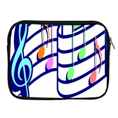 Music Note Tone Rainbow Blue Pink Greeen Sexy Apple Ipad 2/3/4 Zipper Cases by Mariart