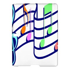 Music Note Tone Rainbow Blue Pink Greeen Sexy Samsung Galaxy Tab S (10 5 ) Hardshell Case  by Mariart