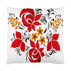 Flower Red Rose Star Floral Yellow Black Leaf Standard Cushion Case (two Sides) by Mariart