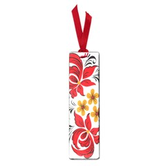 Flower Red Rose Star Floral Yellow Black Leaf Small Book Marks by Mariart