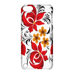 Flower Red Rose Star Floral Yellow Black Leaf Apple Ipod Touch 5 Hardshell Case With Stand by Mariart