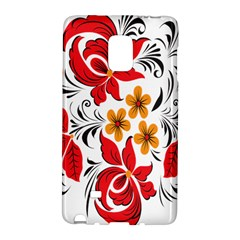 Flower Red Rose Star Floral Yellow Black Leaf Galaxy Note Edge by Mariart
