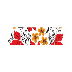 Flower Red Rose Star Floral Yellow Black Leaf Satin Scarf (oblong) by Mariart