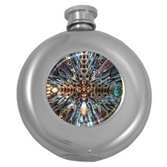 Iron Glass Space Light Round Hip Flask (5 Oz) by Mariart