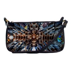 Iron Glass Space Light Shoulder Clutch Bags by Mariart