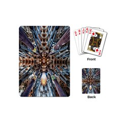 Iron Glass Space Light Playing Cards (mini)  by Mariart