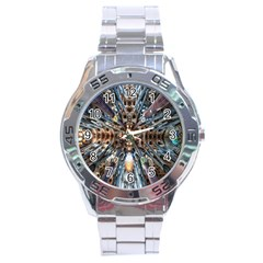 Iron Glass Space Light Stainless Steel Analogue Watch by Mariart