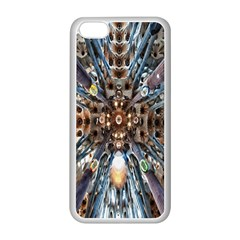 Iron Glass Space Light Apple Iphone 5c Seamless Case (white) by Mariart