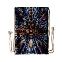 Iron Glass Space Light Drawstring Bag (small) by Mariart
