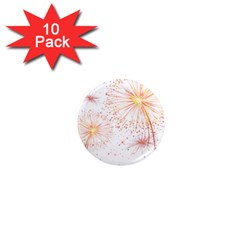 Fireworks Triangle Star Space Line 1  Mini Magnet (10 Pack)  by Mariart