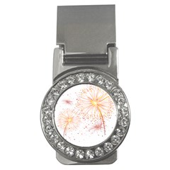 Fireworks Triangle Star Space Line Money Clips (cz)  by Mariart