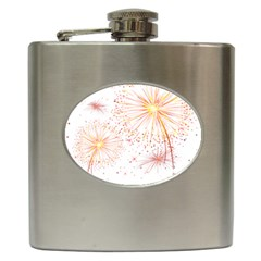 Fireworks Triangle Star Space Line Hip Flask (6 Oz) by Mariart