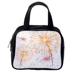 Fireworks Triangle Star Space Line Classic Handbags (one Side) by Mariart