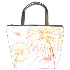 Fireworks Triangle Star Space Line Bucket Bags by Mariart