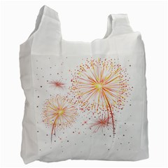 Fireworks Triangle Star Space Line Recycle Bag (two Side)