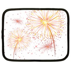 Fireworks Triangle Star Space Line Netbook Case (xl)  by Mariart