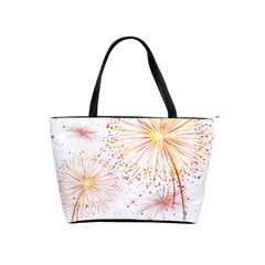 Fireworks Triangle Star Space Line Shoulder Handbags by Mariart
