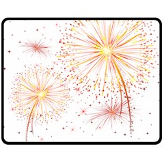 Fireworks Triangle Star Space Line Fleece Blanket (medium)  by Mariart