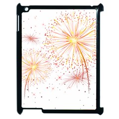 Fireworks Triangle Star Space Line Apple Ipad 2 Case (black) by Mariart