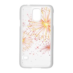 Fireworks Triangle Star Space Line Samsung Galaxy S5 Case (white) by Mariart