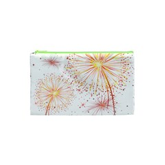 Fireworks Triangle Star Space Line Cosmetic Bag (xs) by Mariart