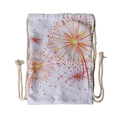 Fireworks Triangle Star Space Line Drawstring Bag (small) by Mariart