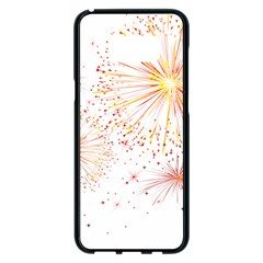 Fireworks Triangle Star Space Line Samsung Galaxy S8 Plus Black Seamless Case