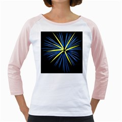 Fireworks Blue Green Black Happy New Year Girly Raglans