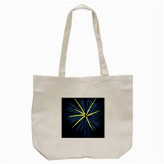 Fireworks Blue Green Black Happy New Year Tote Bag (cream) by Mariart