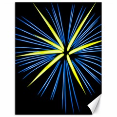 Fireworks Blue Green Black Happy New Year Canvas 18  X 24   by Mariart