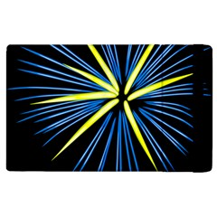 Fireworks Blue Green Black Happy New Year Apple Ipad 2 Flip Case by Mariart