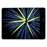 Fireworks Blue Green Black Happy New Year Samsung Galaxy Tab Pro 12.2  Flip Case Front