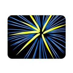 Fireworks Blue Green Black Happy New Year Double Sided Flano Blanket (mini)  by Mariart
