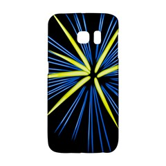 Fireworks Blue Green Black Happy New Year Galaxy S6 Edge by Mariart